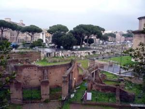 Палатинский холм в Риме.
