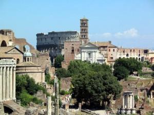 Город Рим в Италии.