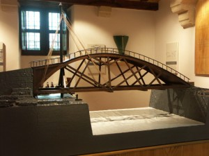 Разводной мост в Музее Леонардо да Винчи