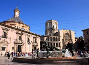 Площадь Святой Девы, Фонтан Рио Турия, Кафедральный Собор