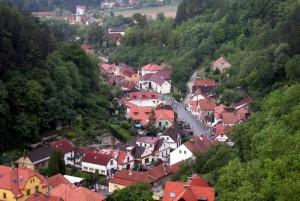 Виды на окрестности замка Карлштейн