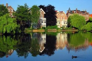 Архитектура и пейзажи города Амстердам