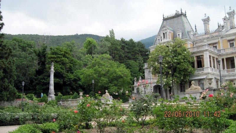 Массандровский дворец и парк в Крыму