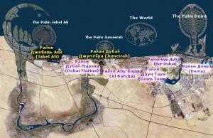 Карта Дубай с Районами