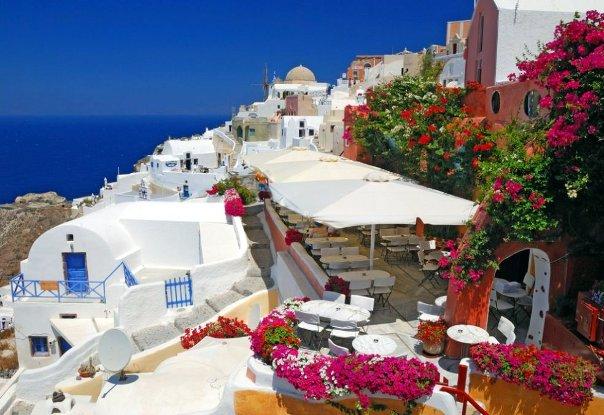 Остров Санторини. Греция. Город Ия